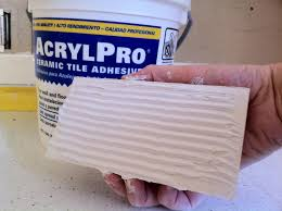Acrylpro Ceramic Tile Adhesive Cleanup by Tiling The Kitchen Backsplash My Fifties Kitchen Redo
