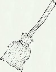 Collection Of Witch Broom Drawing High Quality Free Cliparts Drawings And Coloring Pages For Teachers Students