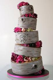 Birch Tree Stump Wedding Cake