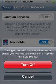 How to turn off location services on iPhone 4S