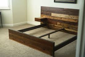 distressed wood bed frame reclaimed wood bed craft board