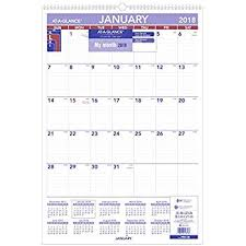 Amazon At A Glance Monthly Wall Calendar January 2018