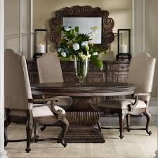 60 Round Pedestal Table And Upholstered Chair Dining Group