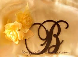 Brown Monogram Cake Topper