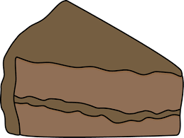 Chocolate Cake Slice Clipart