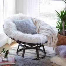 World Market Papasan Chair by Ivory Mongolian Faux Fur Papasan Cushion World Market