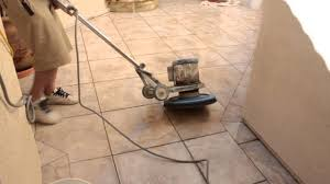 how to clean porcelain tile with heavy mineral deposits