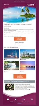 Coupon Discount Code Email From Qatar Airways #EmailMarketing #Email ...