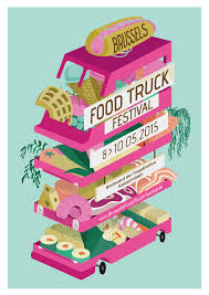 100 Food Truck Festival Nyc Brussels Poster On Behance
