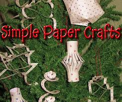 Simple Paper Crafts From Family Christmas OnlineTM