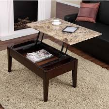 dorel living faux marble lift top coffee table walmart com