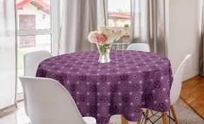 abakuhaus tischdecke kreis tischdecke abdeckung für esszimmer küche dekoration gedämpfte farben zusammenfassung petals kaufen otto