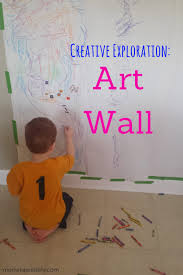 Preschool Art Activity Wall From Mom Inspired Life This Is An