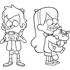 Coloring Pages Gravity Falls Gravity Falls Mabel Coloring