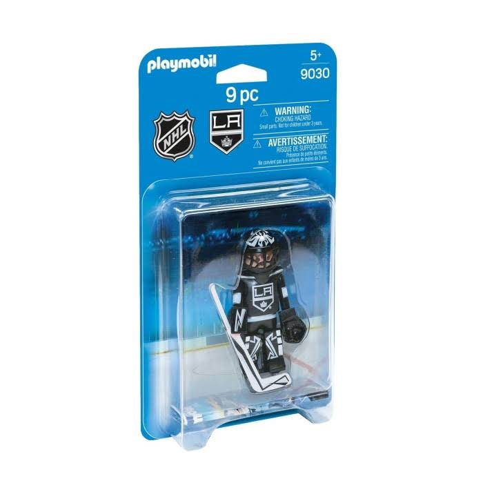 Playmobil NHL Los Angeles Kings Goalie Play Set - 9pcs