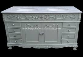 Shabby Chic Bathroom Vanity Unit by Bespoke Double Bowl Sink Vanity Unit With Solid Marble Top