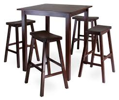 Ikea Dining Room Sets Malaysia by Winsome Parkland 5 Piece Square Pub High Table Set Hayneedle