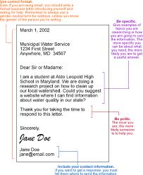 Sample Business Letter The Environmental Literacy Council
