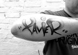 Xavier Graffiti Tattoo Cardiff Dotwork