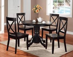 Black Dining Room Chairs With Regard To Round Table And Modest Picture Of Idea 12