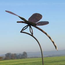 Large Ornamental Rustic Dragonfly Garden Stake Old Smithy North Lincs