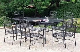 patio ideas rod iron patio furniture over stone flooring option