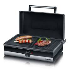 gril barbecue avec couvercle smart line pg 2368 severin topmenager
