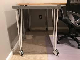 Ikea Linnmon Corner Desk Hack by Ikea Hack Custom Transforming Home Office Desks Saving Amy