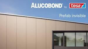 alucobond prefab invisible geklebte befestigungssystem für fassadenelemente