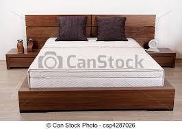 chambre a coucher en bois moderne chambre à coucher bois fini image de