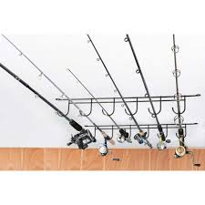 overhead fishing rod rack coated wire 6 rods dcg stores