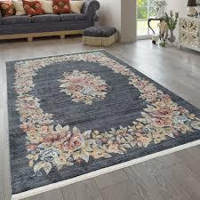 orient teppich wohnzimmer vintage muster floral