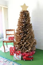 How To Make A Full Size Brown Paper Christmas Tree