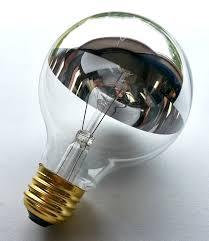 light bulb half chrome light bulb g25 also known as silver bowl
