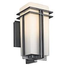 kichler 49200bk one light outdoor wall mount wall porch lights