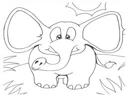 Free Printable Elephant Coloring Pages For Kids Throughout Preschool