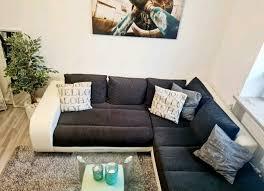 sofa ecksofa mit bettfunktion und bettlaken