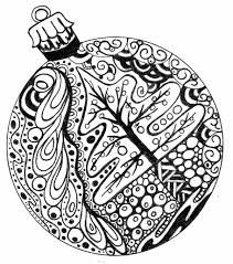 First Rate Christmas Ornament Coloring Pages Printable Page