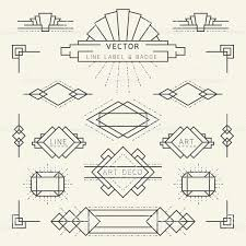 100 Art Deco Shape Linear Design Style Deco Design Deco Logo