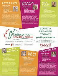 canadian speakers bureau sascaleadership canadian youth speakers bureau