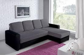 canapé d angle lit canapé d angle convertible et réversible esther noir et gris
