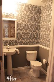 Small Downstairs Bathroom - Like The Wallpaper And Chair Rail Idea ... Bathroom Wallpapers Inspiration Wallpaper Anthropologie Best Wallpaper Ideas 17 Beautiful Wall Coverings Modern Borders Model Design 1440x1920px For Wallpapersafari Download Small 41 Mariacenourapt 10 Tips Rocking Mounted Golden Glass Mirror Mount Fniture Small Bathroom Ideas For Grey Modern Pinterest 30 Gorgeous Wallpapered Bathrooms