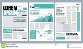 Modern Graphical Layout Newspaper Template Design
