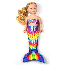 Mermaid Tails For Large Dolls Sweet Dreams Doll Tail Set For 18