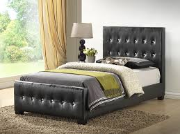 Black Leather Headboard With Diamonds by Upholstered Twin Bed Frame Med Art Home Design Posters