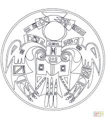 Free Printable Easy Mandala Coloring Pages Animal Native Full Size