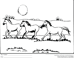 Horse Coloring Pages Printable Free Animal Pony Books For Adults Realistic