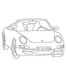 Porsche Carrera Coloring Page