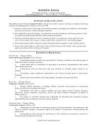Construction Resume Example Download Sample