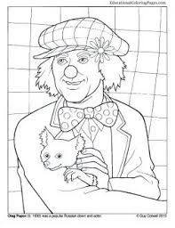 Clowns Coloring Books Two Animal Pages For Kids